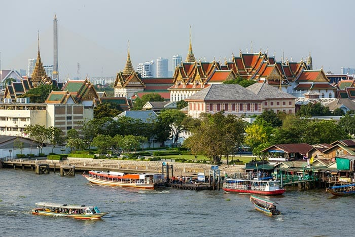 In front of The Grand Palace in Bangkok