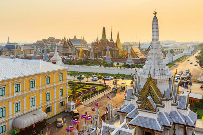 Location of The Grand Palace in Bangkok
