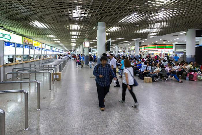 Bus station Bangkok to Siem Reap