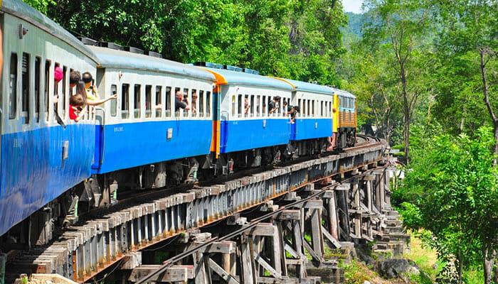 Train Bangkok to Kanchanaburi