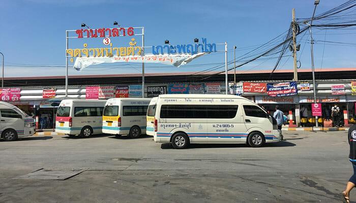 モー・チット・バスステーションバンコクのミニバン
