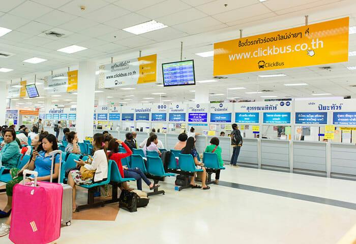 バンコクの南バスターミナル(サイタイマイ)