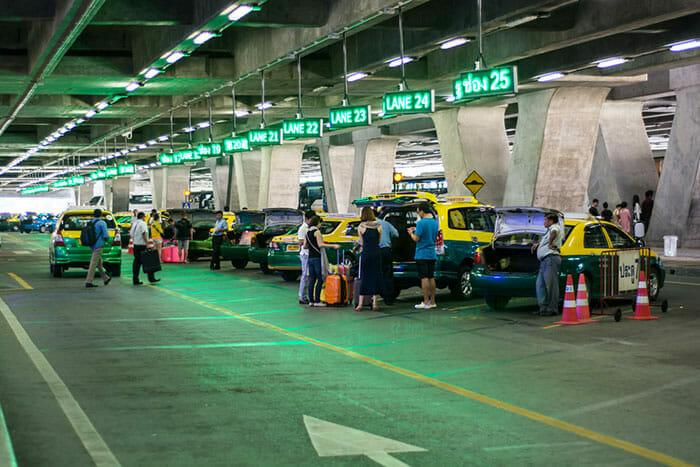 スワンナプーム空港指定タクシーピックアップエリア