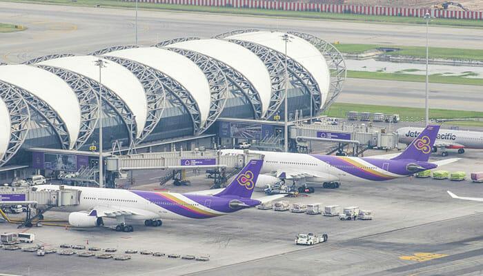 飛行機でバンコクからビエンチャンへ