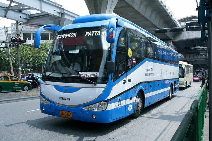 방콕에서 파타야까지 버스로 이동