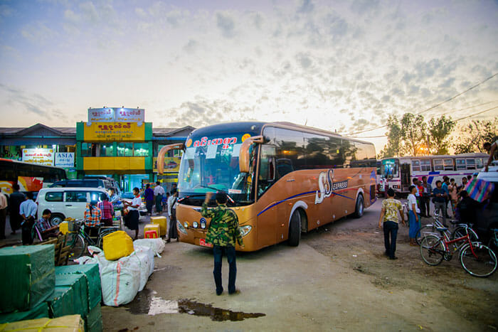 Mandalay to Bagan by Bus