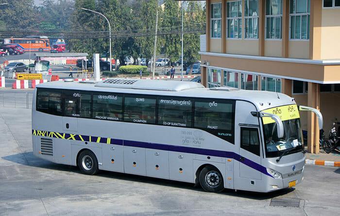 방콕에서 푸켓까지 버스로 이동
