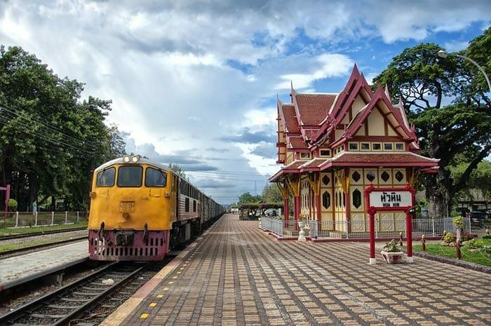 방콕에서 후아힌까지 기차로 이동