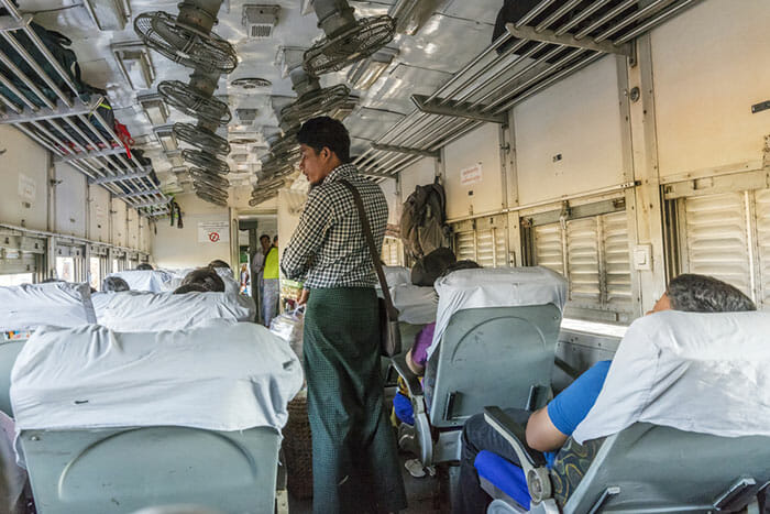 The Train from Mandalay to Bagan