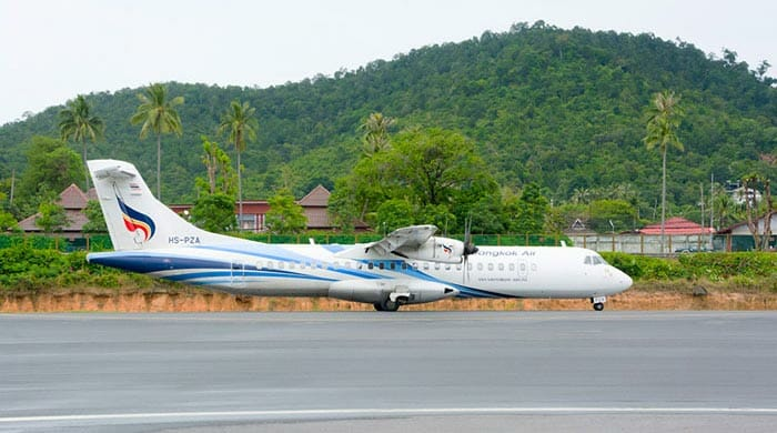 Flight from Krabi to Koh Tao
