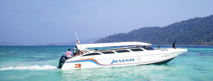 A Jolly Travel Speedboat heading to Koh Lipe.
