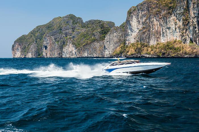 エクスプレススピードボートでクラビからランタ島へ