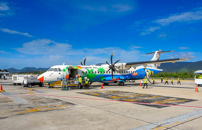 バンコクからチャン島までのフライト