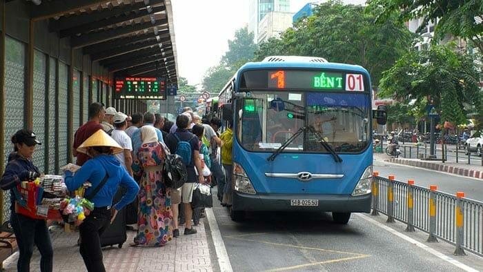 ベトナムのローカルバス