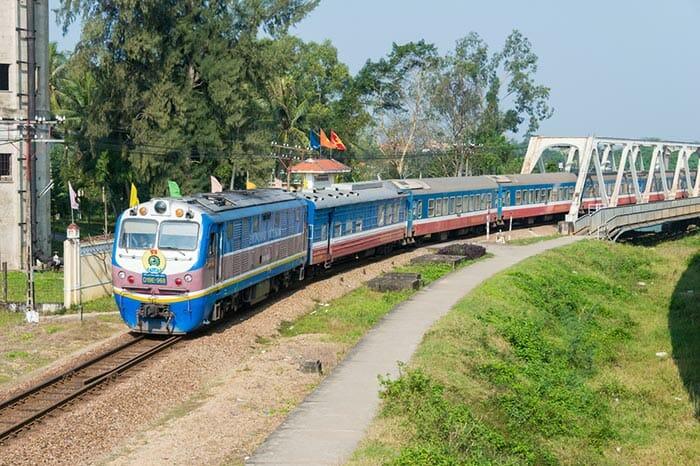 ハノイからフエへの列車