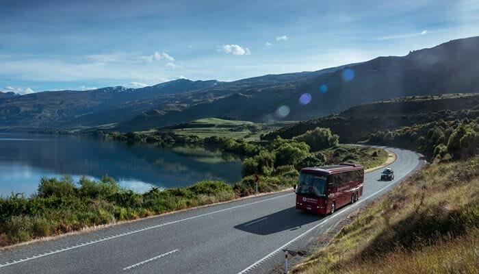 バスでオークランドからハミルトンへ