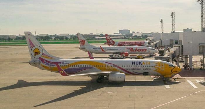 飛行機でバンコクからチェンライへ