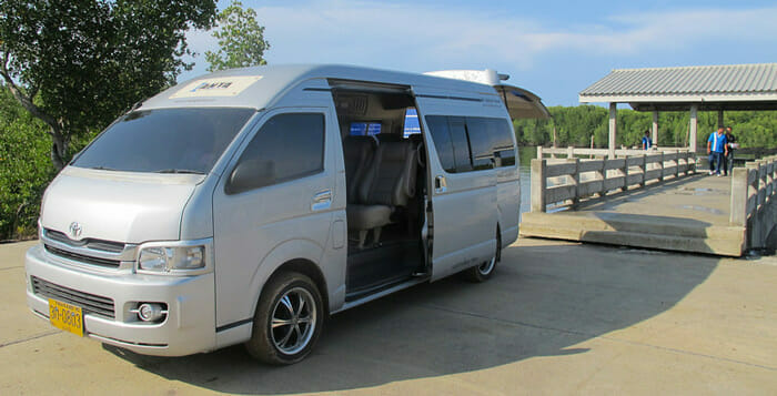 Phuket to Ao Nang by Taxi