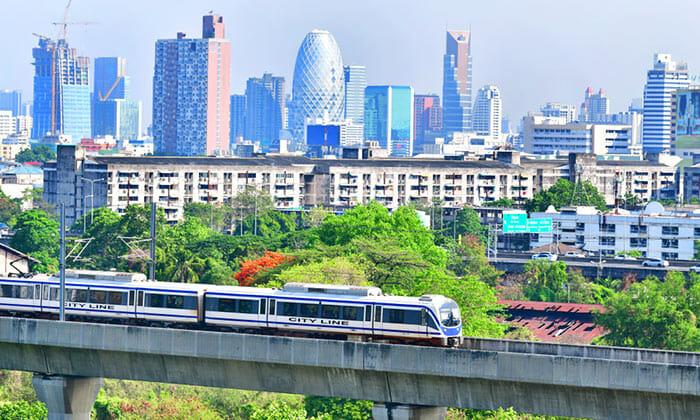 Airport Rail Link from Suvarnabhumi Airport to Bangkok