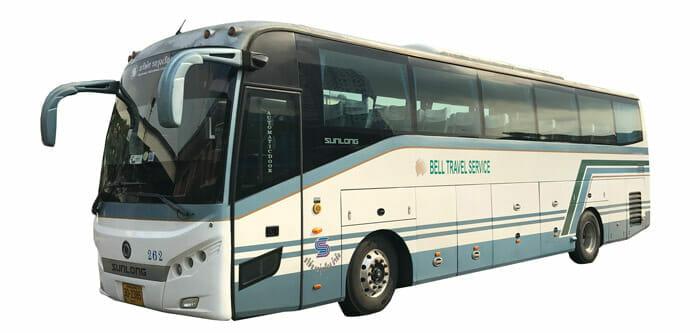 バスでスワンナプーム空港からパタヤへ