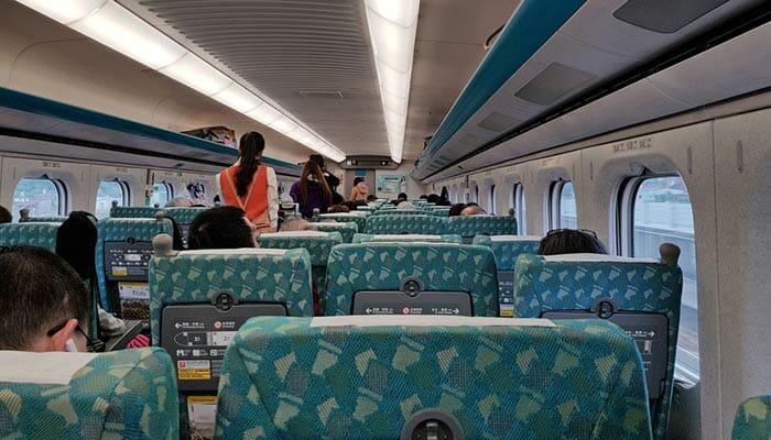 列車で台北から台中へ