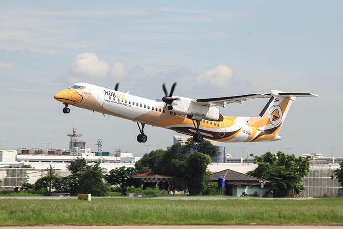 バンコクからチュムポーンへの飛行