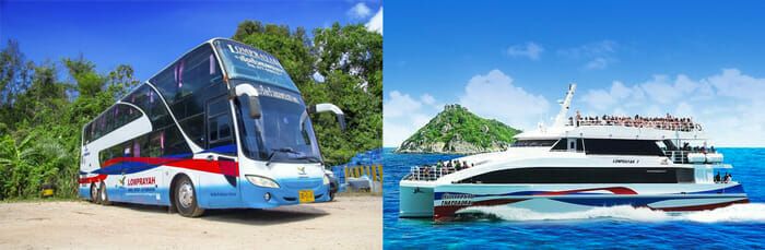 フェリーとバスでパンガン島からバンコクへ