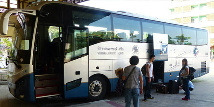 Suvarnabhumi Airport to Hua Hin by Bus