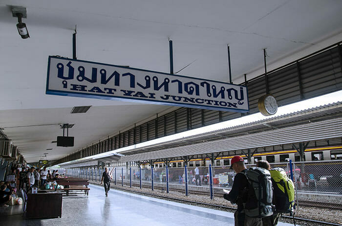 列車でバンコクからハートヤイへ