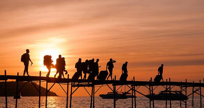 タイのフェリー旅行の乗車券を購入する場所