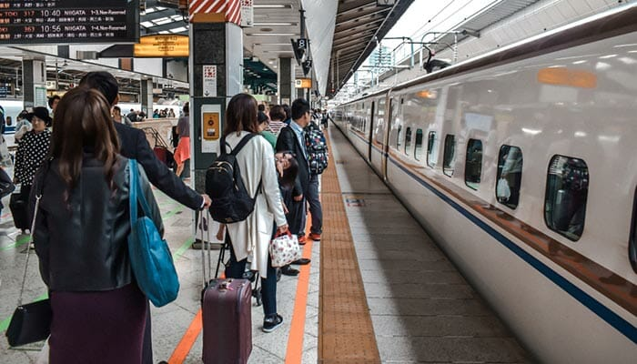 Japan Rail Nagoya to Tokyo by Train