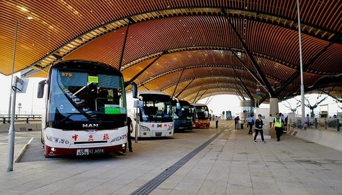 홍콩에서 마카오까지 버스로 이동