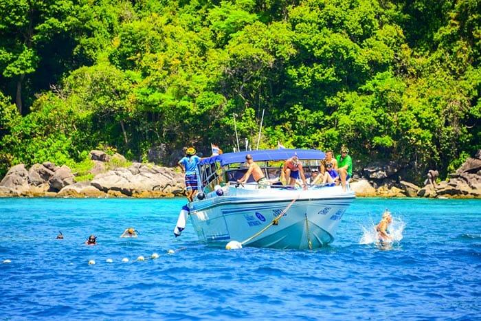 Скоростная лодка из Краби на Пхипхи