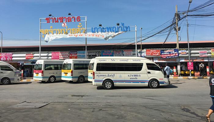 バスまたはミニバンでバンコクからカオヤイまで