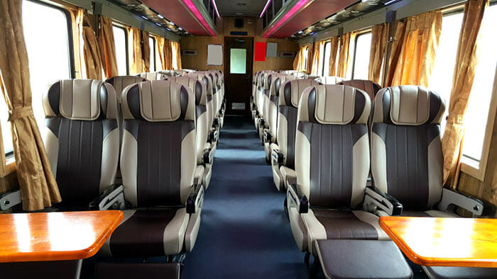 베트남 기차의 좌석 등급