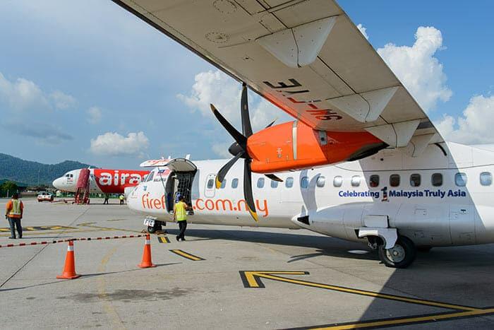 С Пинанга на Лангкави на самолете