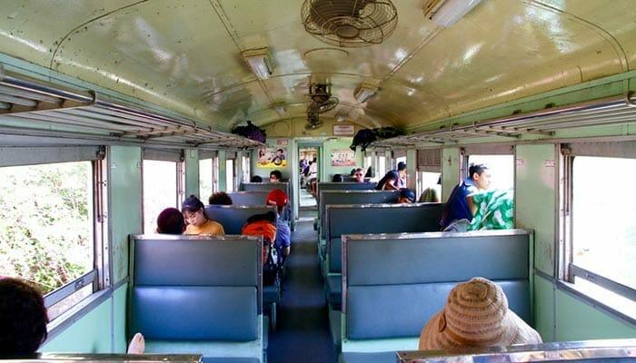 태국 기차의 좌석 등급