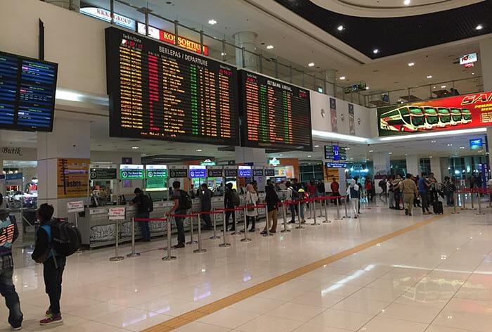 マレーシアのバス旅行の乗車券を購入する場所