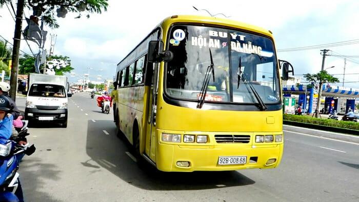 다낭에서 호이안 공공 버스로 이동