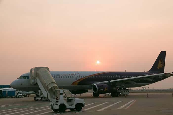 프놈펜에서 씨엠립 비행기로 이동