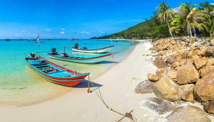 パンガン島のビーチ