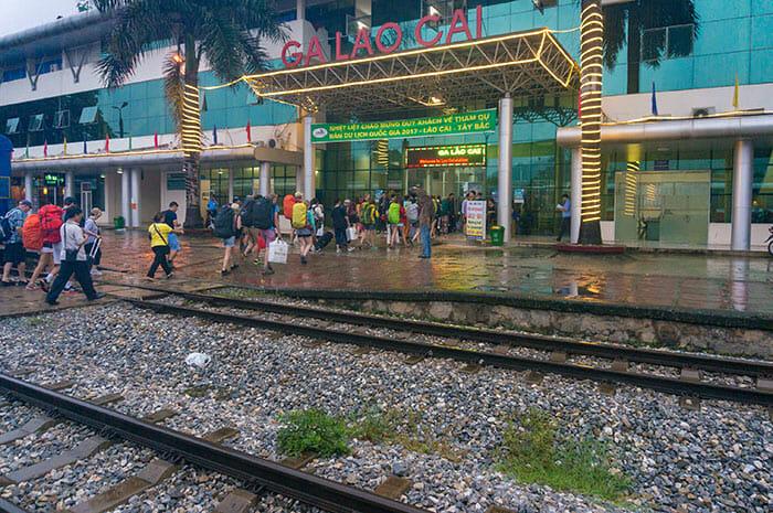 하노이에서 사파 기차로 이동