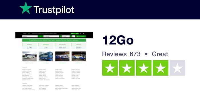 12Go Trustpilot