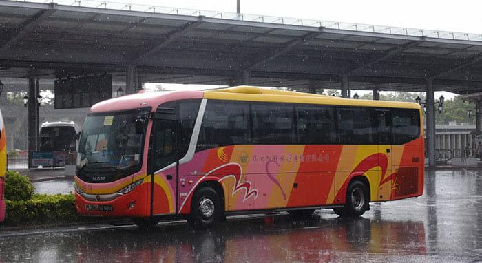 홍콩에서 광저우 버스로 이동
