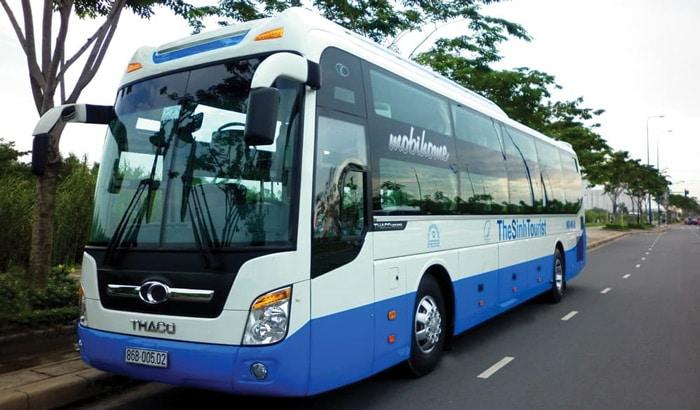 Автобус туристической компании из Дананга в Хойан