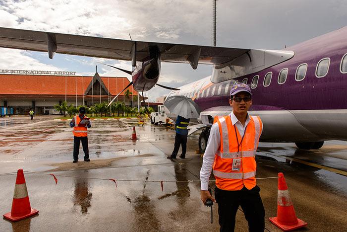 씨엠립에서 시아누크빌 비행기로 이동