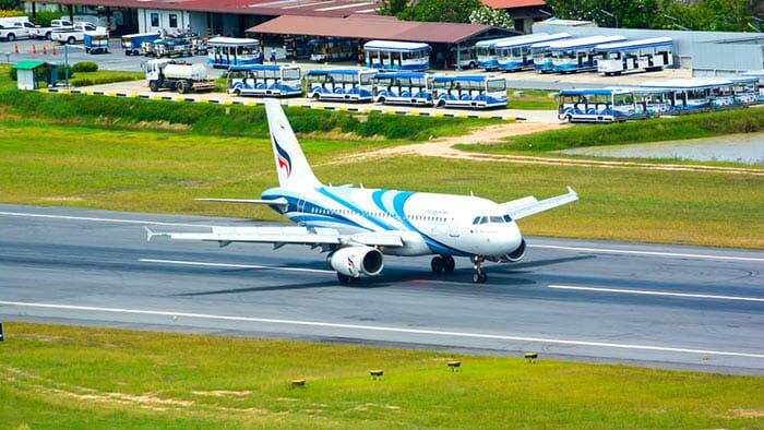 코타오에 방콕 비행기로 이동