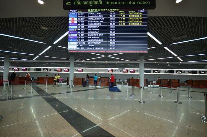 프놈펜에서 시아누크빌 비행기로 이동
