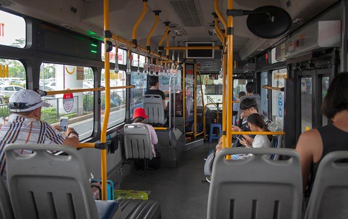 Из аэропорта Ханоя в город на государственном автобусе