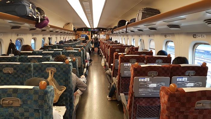 오사카에서 나고야 기차로 이동
